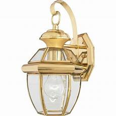 quoizel 1 light newbury outdoor wall lanterns polished brass ny8315b ebay
