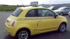 fiat 500 italie fiat 500 1 2 pop yellow with italian stripes for sale