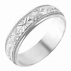 9ct white gold 5mm crossover patterned wedding ring h samuel