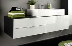 Badmöbel Set Aufsatzwaschbecken - badezimmer badm 246 bel set 3 teilig wei 223 hochglanz