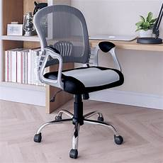 home depot office furniture corliving workspace black leatherette and grey mesh office