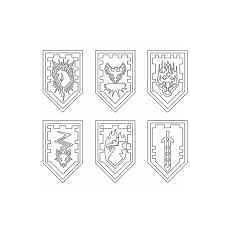 Nexo Knights Schilder Ausmalbilder Nexo Knights Ausmalbilder Kostenlos