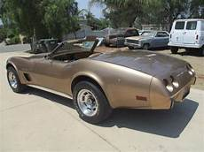 chevrolet corvette convertible 1975 gold for sale 1975 corvette stingray convertible matching