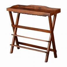 portable deluxe solid wood folding wine bar table