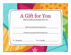 birthday card layout for word birthday gift certificate bright design