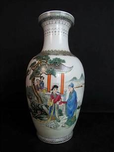 China Porzellan Antik - antique 1930s porcelain vase qianlong 24