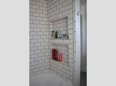 Bathroom: How To Build Recessed Shower Shelf For Your