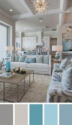 cozy chic coastal living room in white aqua gray in 2020 paint colors for living room