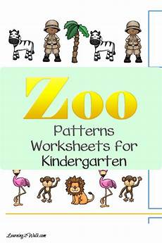 zoo patterns worksheets for kindergarten cut and paste fun worksheets kindergarten and zoos