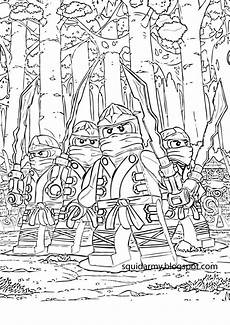 Malvorlagen Ninjago Lego Ninjago Coloring Pages Squid Army