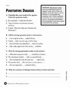 dialogue worksheets 18248 punctuating dialogue printable test prep tests and skills sheets