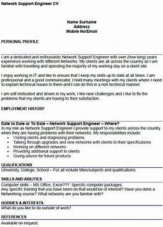 network support engineer cv exle icover org uk