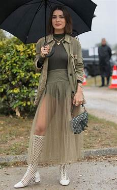 green with envy from street style at fashion week spring 2020 e news