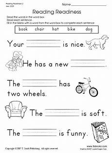 snapshot image of reading readiness worksheet 2 kindergarten reading worksheets 1st grade