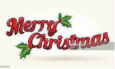 merry christmas sign with holly high res vector graphic getty images