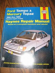 car owners manuals for sale 1985 mercury topaz lane departure warning sell 1984 1994 haynes repair manual ford tempo mercury topaz motorcycle in lebanon tennessee