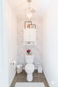 toilet room makeover reveal and clever bathroom storage kelley nan