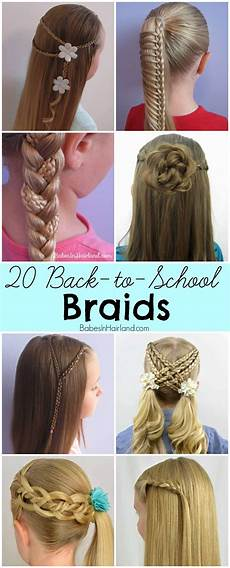 Pretty Braided Hairstyles For School 20 back to school braids school braids