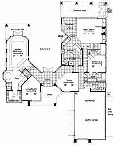 courtyard floor plans two story courtyard house plan 6382hd architectural