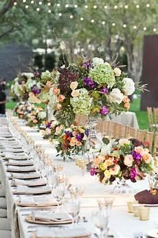 Tischdeko Mit Blumen - herbst tischdeko mit blumen 20 romantische hochzeit ideen