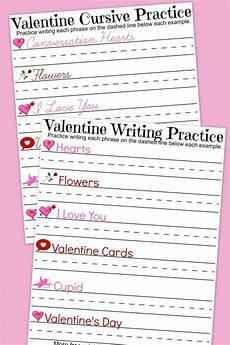 s day writing worksheets 20627 printable valentines day handwriting and cursive writing practice great for homeschool or
