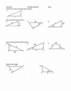 geometry trigonometry worksheets 910 angles of elevation and depression