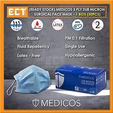 medicos face mask ready stock medicos 3 ply sub micr end 9 9 2022 12 00 am