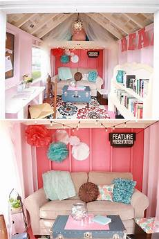 2 beautiful fabric playhouse design ideas and boys adding furniture and accessories to a she shed at kloter