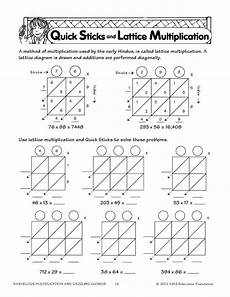 quick sticks and lattice multiplication multiplication pinterest sticks multiplication
