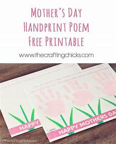 s day printable cards and poems 20492 sweet s day handprint poem free printable best mothers day poems s