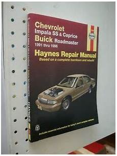 service and repair manuals 1996 chevrolet caprice engine control 1991 1996 chevy impala ss caprice service manual shop book repair roadmaster ebay