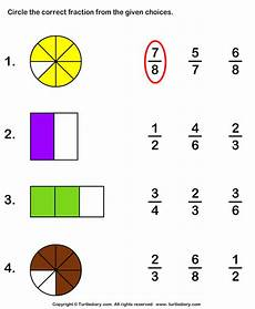 fraction worksheets shaded unshaded 4095 shaded part as fraction worksheet turtle diary