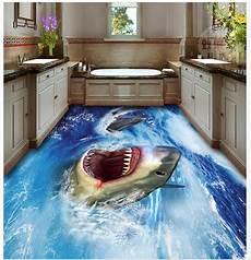 3d boden bad 3d bathroom wallpaper waterproof shark 3d floor pvc self