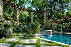 Garden And Pools - vertical garden next to the swimming pool brings more