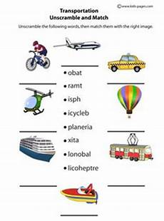 vocabulary matching worksheet transport transport pinterest worksheets english and