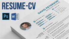 resume cv how to edit and use photoshop and microsoft