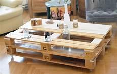 table basse en bois de palettes support alu et