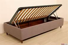 rete e materasso singolo single sommier bed with storage box and slatted base