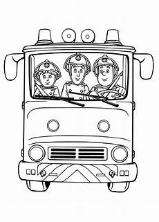 fireman sam and friends on trucks coloring page