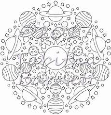 sun moon mandalas coloring pack 7 page pdf