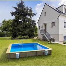 piscine coque carrée weva piscine bois carr 233 e 4x4 m hauteur 1 33 m achat