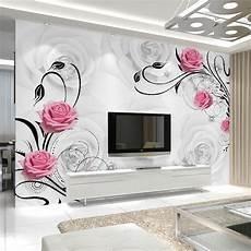 flower wallpaper bedroom aliexpress buy customized 3d flower photo wallpaper