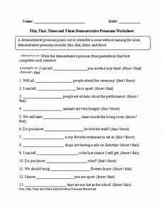 free worksheets demonstrative pronouns regular pronouns worksheets this that these those