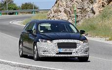 ford mondeo facelift 2019 spyshots 2019 ford mondeo facelift testing in spain autoevolution