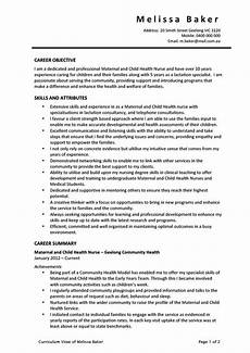 maternal and child health nurse resume career and hr