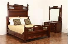 cherry victorian eastlake 1880 antique bedroom set queen