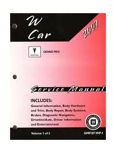 small engine service manuals 1990 pontiac grand prix electronic throttle control 2007 pontiac grand prix gxp factory service manual 3 volume set
