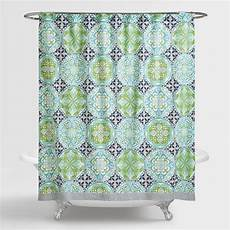 Blue And Green Shower Curtain