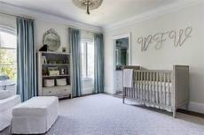 Kinderzimmer Blau Grau - gray and blue nursery with marcelle crib transitional