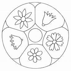 Malvorlagen Mandalas Kindergarten Kostenlose Malvorlage Mandalas Mandala Mit Blumen Zum